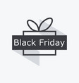 black friday gift box with ribbon isolated on vector image vector image