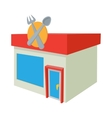 Cafe icon cartoon style vector image vector image