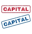 Capital Rubber Stamps vector image vector image