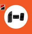 car brake clutch gas pedal vector image vector image