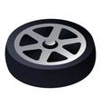 car wheel icon isometric style vector image