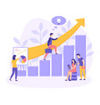 career growth startup ladder people flat vector image vector image