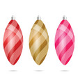 chrismas ball in various color set vector image vector image