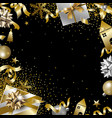 christmas and new year banner design vector image vector image