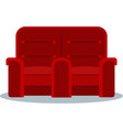 cinema red combined armchair vector image vector image