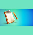 clipboard icon with clean vector image vector image