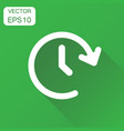 clock time icon business concept timer 24 hours vector image vector image