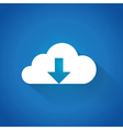 Cloud downloading vector image vector image