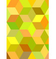 Colorful 3d cube mosaic background design vector image vector image