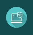 computer security icon for graphic and web design vector image vector image