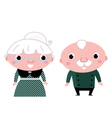 Cute elderly couple vector image vector image
