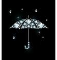 Diamond Umbrella and Rain Drops vector image vector image