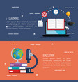 electronic learning infographic technology vector image