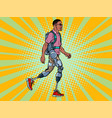 exoskeleton for disabled african man legless vector image vector image