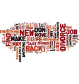 find a new job and move on text background word vector image vector image