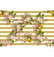 Floral arabis orange background vector image