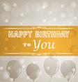 Happy birthday retro poster vector image vector image