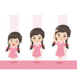height girl grow up vector image vector image
