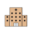hospital simple medical icon in trendy line style vector image