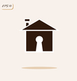 house and keyhole vector image vector image