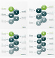 infographic set designs with ellipses 5-8 vector image vector image