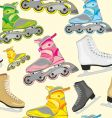 isolated roller and ice skates vector image