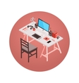 Isometric designer workplace vector image vector image