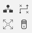 Machine icons set collection of branching program