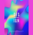 modern dynamic futuristic cover design hologram vector image vector image