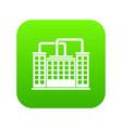 plant building icon digital green vector image vector image