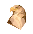 polygonal royal eagle vector image vector image