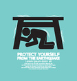 Protect Yourself From The Earthquake vector image vector image