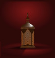 ramadan kareem realistic 3d lantern vector image