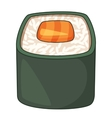 Roll traditional Japanese food icon cartoon style vector image vector image