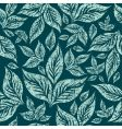 seamless grunge pattern with leafs vector image vector image
