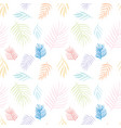 seamless pattern with palm leaves background vector image vector image