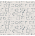 Seamless pattern with photo equipment vector image vector image