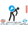 Service Courier Flat Icon With 2017 Bonus Trend vector image vector image