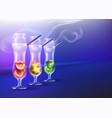 set of cocktail hookah vector image