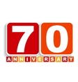 Seventy 70 Years Anniversary Label Sign for your vector image