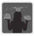 silhouette avatar cheerful girl vector image vector image