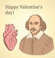 Sketch Valentine set in vintage style vector image vector image