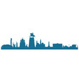 skyline togliatti in blue color vector image