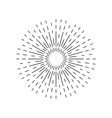 Sun rays linear drawing Star burst in vintage vector image vector image