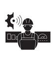 technician control black concept icon vector image vector image