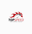 top speed - auto hot race logo template vector image