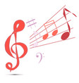treble clef notes vector image vector image