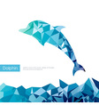 Triangle dolphin vector image