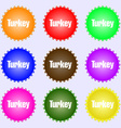 Turkey icon sign Big set of colorful diverse