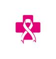 women breast cancer logo vector image vector image
